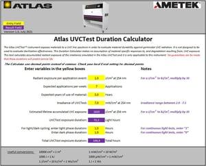 UVC-exposure-duration-calculator-Screenshot