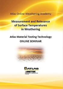 DIN A4-Online Seminar-Cover-Surface temperatures in weathering_AR-2021-07-09